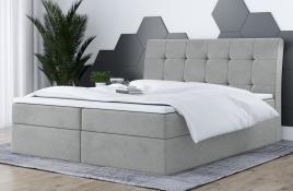 Łóżko kontynentalne HAMAR szare casablanca