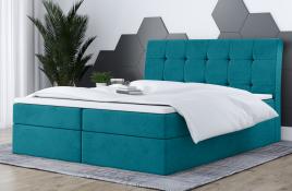 Łóżko kontynentalne HAMAR niebieskie casablanca
