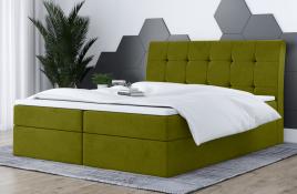 Łóżko kontynentalne HAMAR zielone casablanca