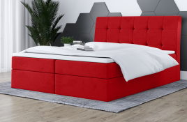 Łóżko kontynentalne HAMAR czerwone casablanca