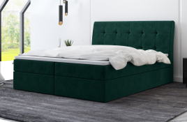 Łóżko kontynentalne HAMAR zielone monolith