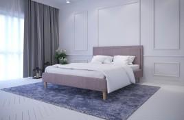 Łóżko tapicerowane HORTEN czerwone sawana