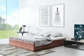 Łóżko z płyty Ikar