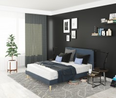 Łóżko Tapi Granat