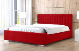 Łóżko tapicerowane LAGOS czerwone casablanca