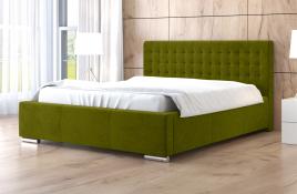 Łóżko tapicerowane LAGOS zielone casablanca