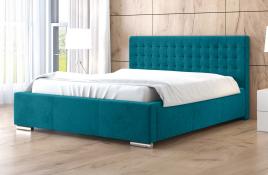 Łóżko tapicerowane LAGOS niebieskie casablanca