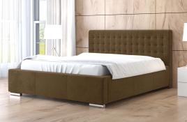Łóżko tapicerowane LAGOS beżowe casablanca