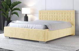 Łóżko tapicerowane LAGOS ecru monolith