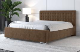 Łóżko tapicerowane LAGOS beżowe monolith