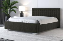 Łóżko tapicerowane LAGOS ciemnoszare monolith