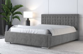 Łóżko tapicerowane LAGOS szare monolith