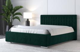 Łóżko tapicerowane LAGOS zielone monolith