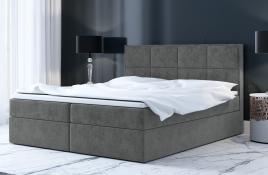 Łóżko kontynentalne MOLDE szare casablanca