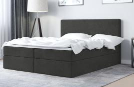 Łóżko kontynentalne HALDEN ciemnoszare casablanca