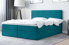 Łóżko kontynentalne HALDEN niebieskie casablanca