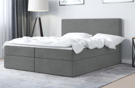 Łóżko kontynentalne HALDEN szare casablanca