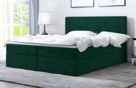 Łóżko kontynentalne HALDEN zielone monolith
