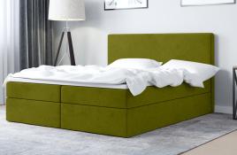 Łóżko kontynentalne HALDEN zielone casablanca