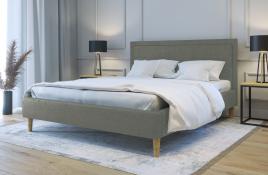 Łóżko tapicerowane HORTEN zielone sawana