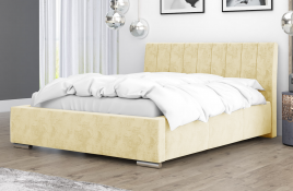Łóżko tapicerowane SAGRES ecru monolith