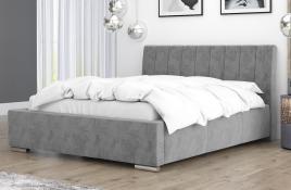 Łóżko tapicerowane SAGRES szare monolith