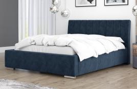 Łóżko tapicerowane SAGRES granatowe monolith