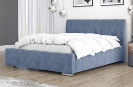 Łóżko tapicerowane SAGRES niebieskie monolith