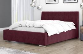 Łóżko tapicerowane SAGRES czerwone monolith