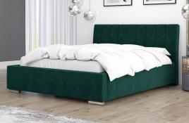 Łóżko tapicerowane SAGRES zielone monolith