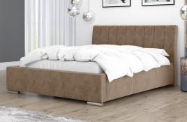 Łóżko tapicerowane SAGRES beżowe monolith