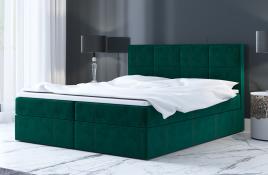 Łóżko kontynentalne MOLDE zielone monolith