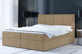 Łóżko kontynentalne MOLDE ecru casablanca