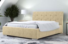 Łóżko tapicerowane MOSS ecru monolith