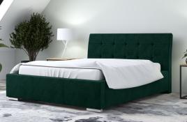 Łóżko tapicerowane MOSS zielone monolith