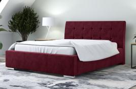 Łóżko tapicerowane MOSS czerwone monolith