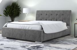 Łóżko tapicerowane MOSS szare monolith