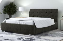 Łóżko tapicerowane MOSS ciemnoszare monolith