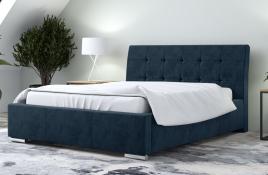 Łóżko tapicerowane MOSS granatowe monolith