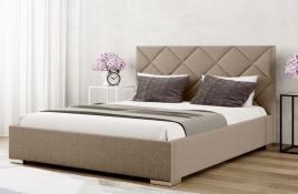 Łóżko tapicerowane TUMBA beżowe inari