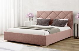 Łóżko tapicerowane TUMBA czerwone inari