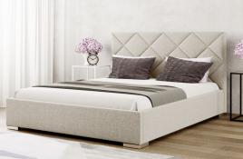 Łóżko tapicerowane TUMBA ecru inari
