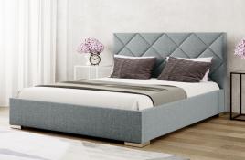 Łóżko tapicerowane TUMBA szare inari