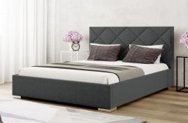Łóżko tapicerowane TUMBA ciemnoszare inari