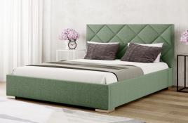 Łóżko tapicerowane TUMBA zielone inari