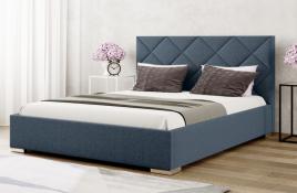 Łóżko tapicerowane TUMBA niebieskie inari