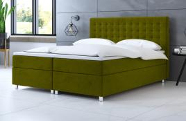 Łóżko kontynentalne TROMSO zielone casablanca