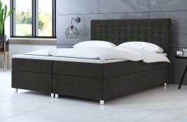 Łóżko kontynentalne TROMSO ciemnoszare casablanca