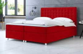 Łóżko kontynentalne TROMSO czerwone casablanca
