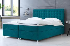 Łóżko kontynentalne TROMSO niebieskie casablanca